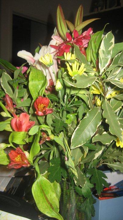 Mixed flower bouquet.