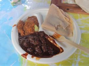 Eritrean food at the WESS Fiesta.