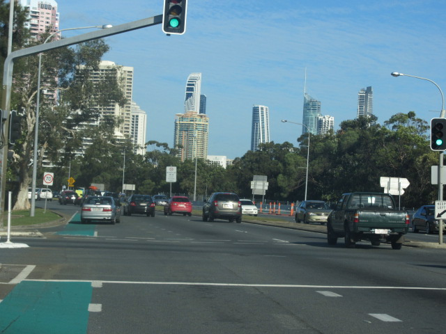 On the way to the Sheraton Mirage, Gold Coast.