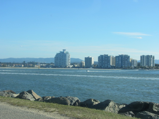 A snapshot of the Gold Coast taken from next to SeaWorld.
