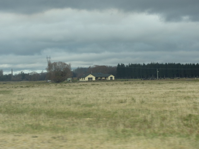 A lonely homestead along the way in South Island, New Zealand.
