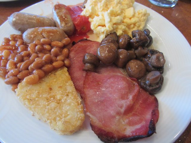 A close up of my breakfast at the Millennium Hotel, Queenstown, New Zealand.