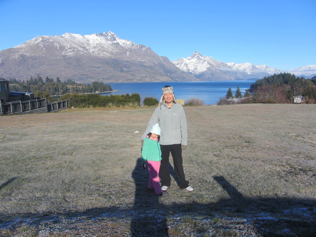 A picture of HRH on the plot of land he plans to buy in Queenstown, New Zealand.
