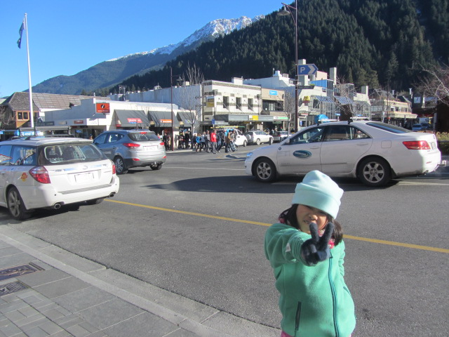 A picture of Amanda in Queenstown town centre during midday.