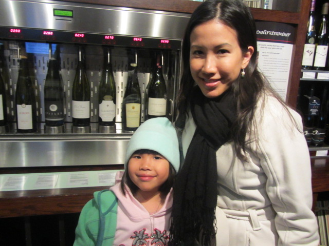 A picture of Amanda and I in SELF-SERVE wine bar in Queenstown, New Zealand.