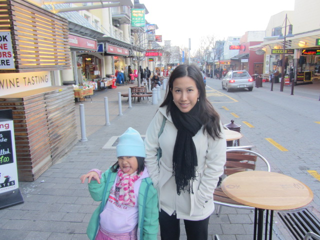 A picture of Amanda and I in the Queenstown mall.