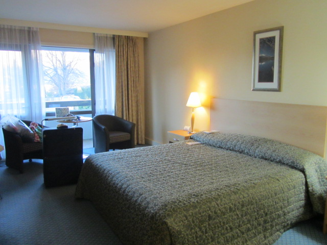 A picture of our room at the Copthorne Hotel in Queenstown, New Zealand.