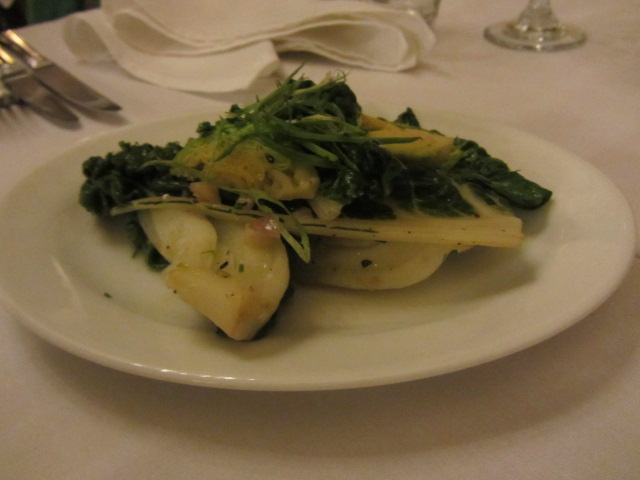 A picture of a single serve of stir-fried greens at the Copthorne Hotel, Queenstown, New Zea