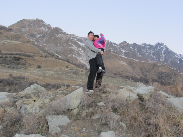 A picture of  HRH and Amanda after skiing at The Remarkables, Queenstown, New Zealand.
