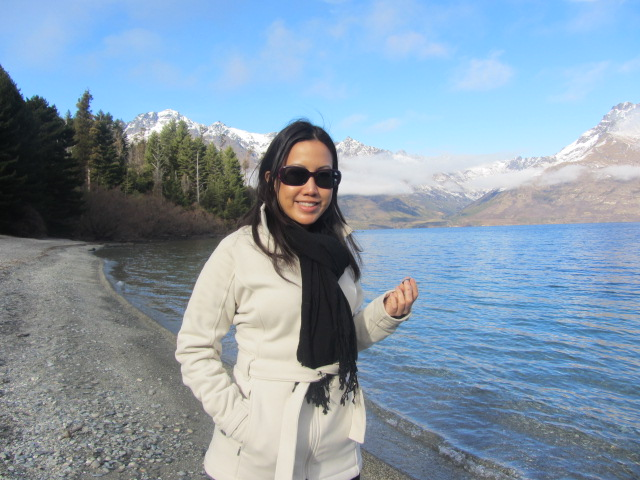 A picture of me at Lake Wakatipu, on the way to Glenorchy in Queenstown, New Zealand.