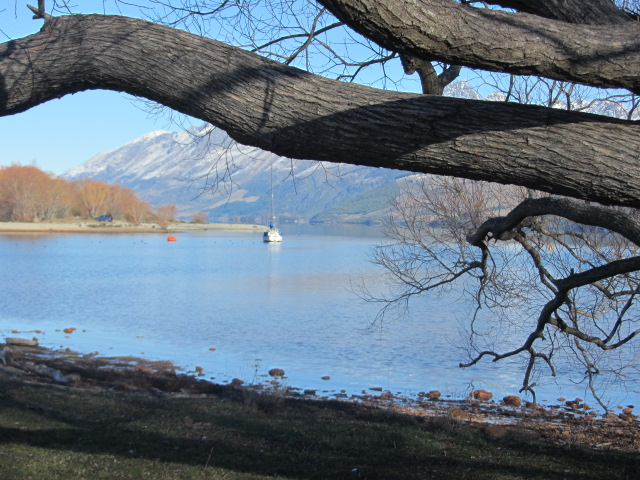 A picture of Lake Wakatipu from Glenorchy, Queenstown, New Zealand.