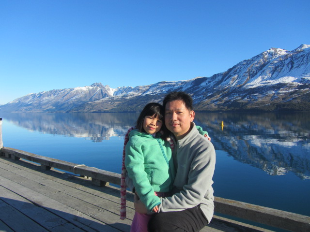 A picture of HRH and Amanda at Glenorchy in QUeenstown, New Zealand.
