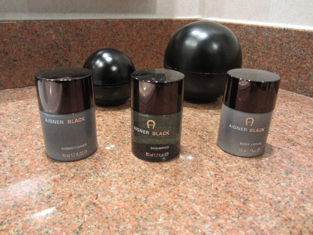 A picture of Aigner toiletries at St Moritz, a boutique hotel in Queenstown, New Zealand