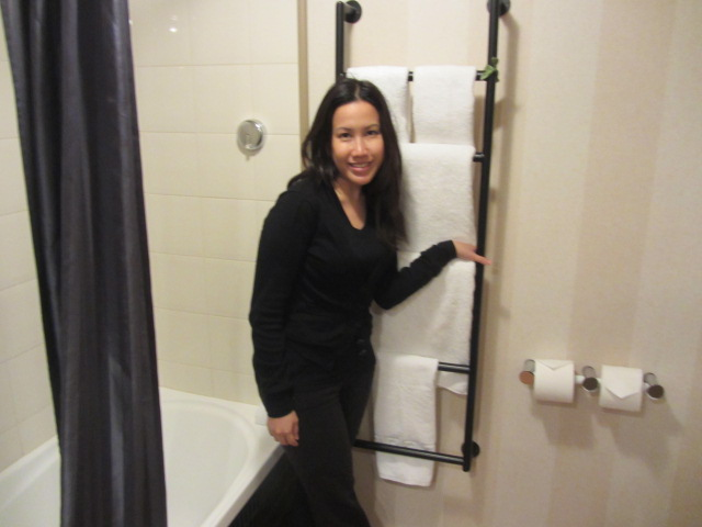 A picture of me in the bathroom at St Moritz in Queenstown, New Zealand.