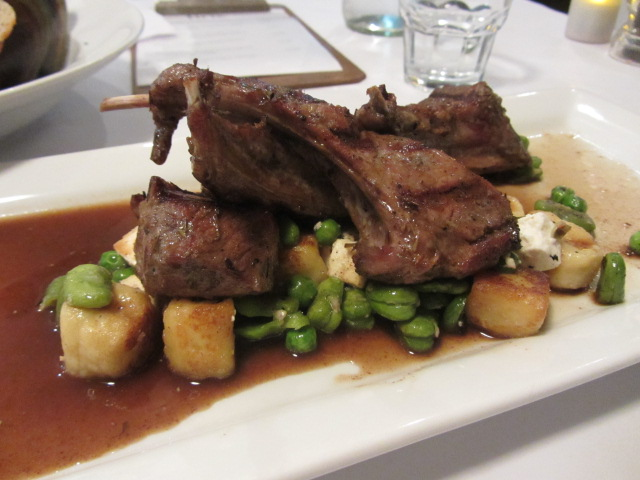 A picture of His Royal Highness' lamb and beans at FINZ restaurant in Queenstown, New Zealand.