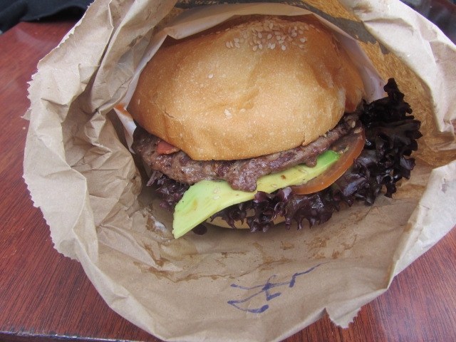 A picture of a Ferg Burger in Queenstown, New Zealand.