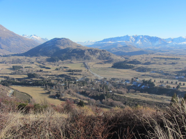 A picture of Queenstown from the scenic alpine route.
