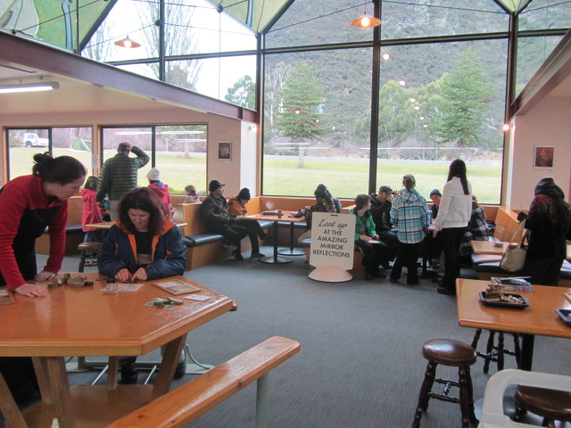 A picture of the Puzzling World Cafe/Reception area in Wanaka, Queenstown.
