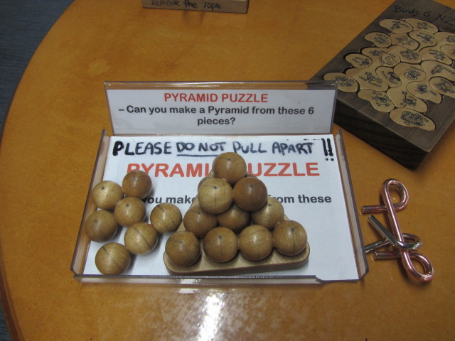 A puzzle at Puzzling World in Wanaka, New Zealand.