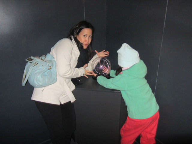 A picture of Amanda and me at Puzzling World in Wanaka, New Zealand.