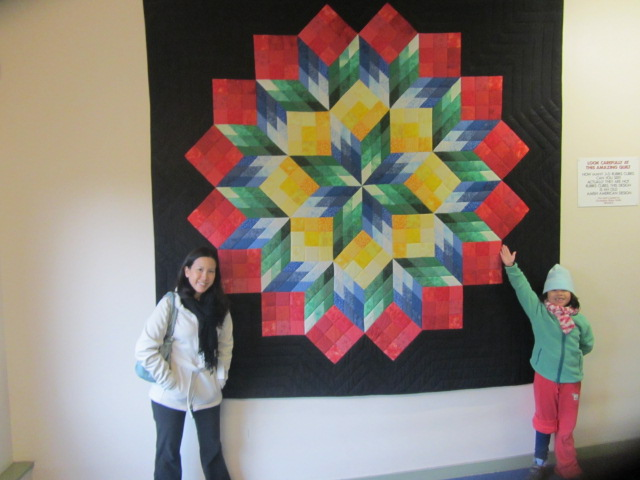 A picture of  me and Amanda at Puzzling World in Wanaka, New Zealand.