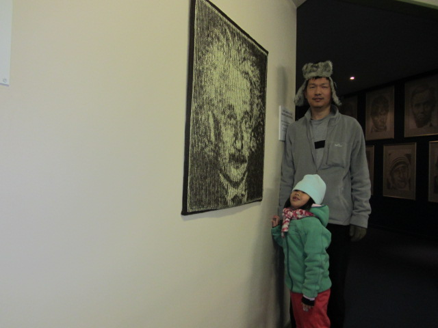 A picture of HRH and Amanda at Puzzling World in Wanaka, New Zealand.