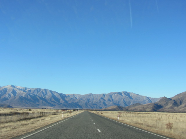 A picture of traveling on route 8a in New Zealand.