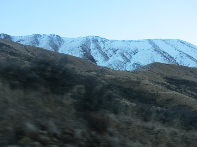 A picture of the Southern Alps in New Zealand.