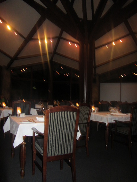 A picture of the restaurant at The Hermitage on Mt Cook in New Zealand.