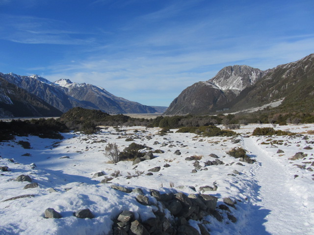 A picture of Mt Cook on our way towards Kea Point.