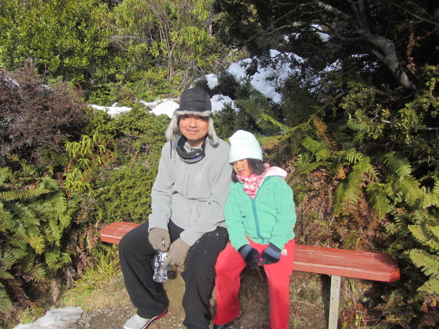 A picture of HRH and Amanda on Mt Cook in New Zealand.