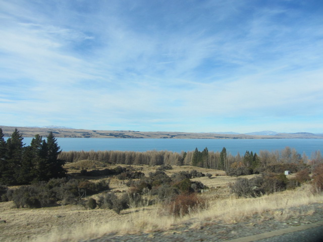 A picture of Lake Pukaki, coming from from Mt Cook in New Zealand.