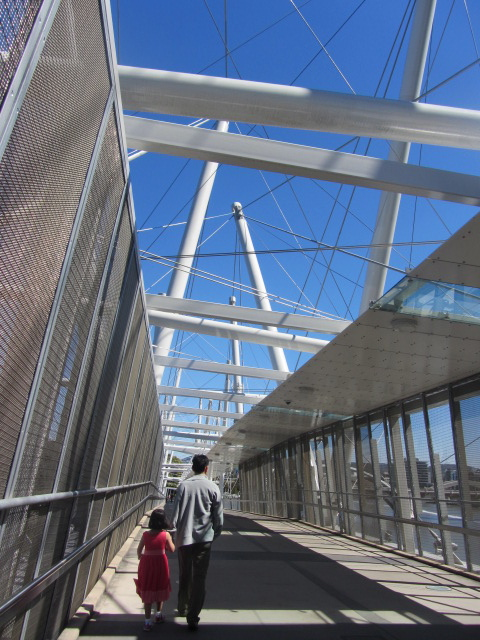 A picture of HRH and Amanda on the Kurilpa Bridge in Brisbane.