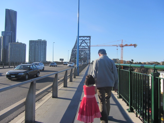 A picture of Amanda and HRH on the Story Bridge in Brisbane.