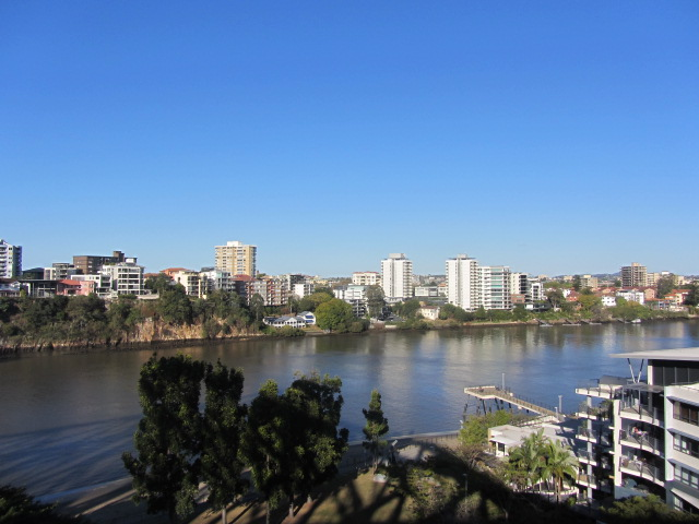 A picture of Brisbane from the Story Bridge in Brisbane.