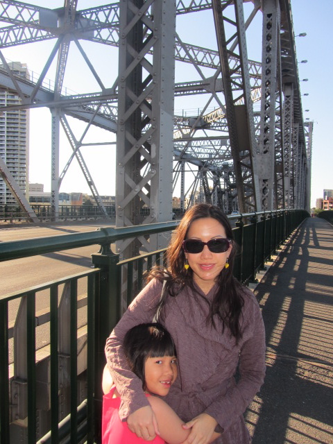 A picture of me and Amanda on the Story Bridge in Brisbane.