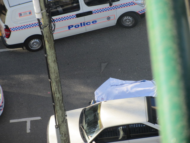 A picture yesterday's suicide at the Story Bridge.