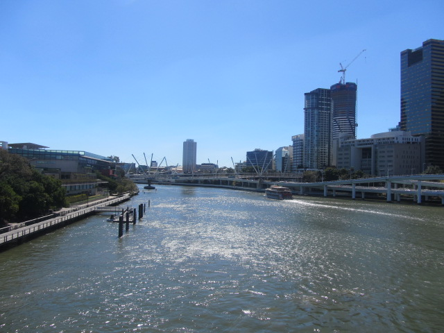 A picture of Southbank and Brisbane CBD from the Victoria Bridge.