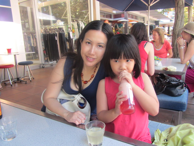 A picture of Amanda and I at a cafe in Grey Street, Southbank, Brisbane.