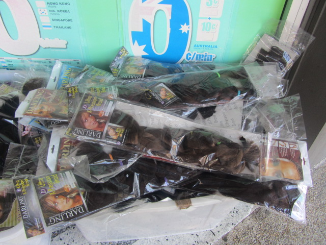 A picture of a tub of hair for sale in Moorooka, Brisbane.