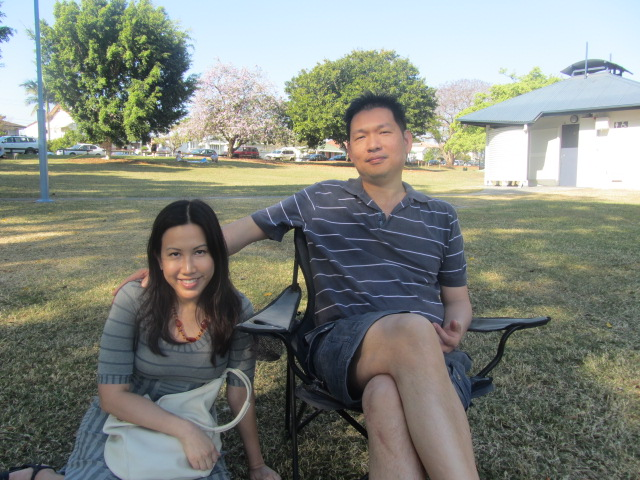 A picture of me and HIs Royal Highness in Orleigh Park, Brisbane.