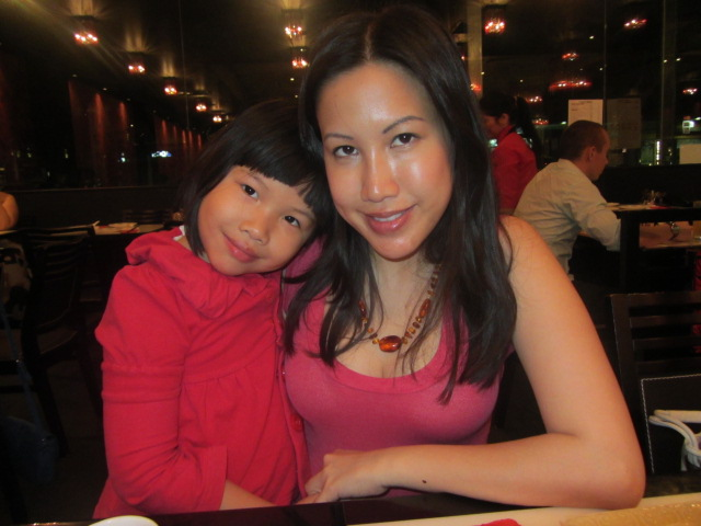 A picture of Amanda and me at Bamboo basket in Southbank, Brisbane.