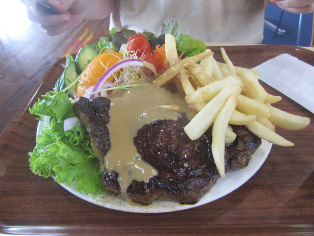 A picture of His Royal Highness' steak at Matilda in Kybong, Queensland.