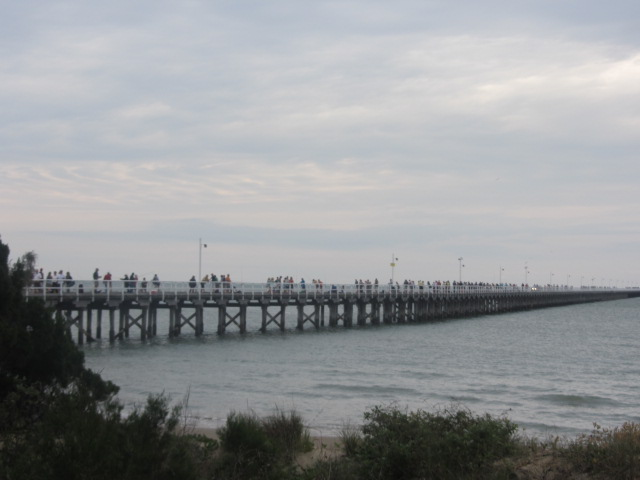 A picture of the Urangan Pier in Hervey Bay, Queensland.