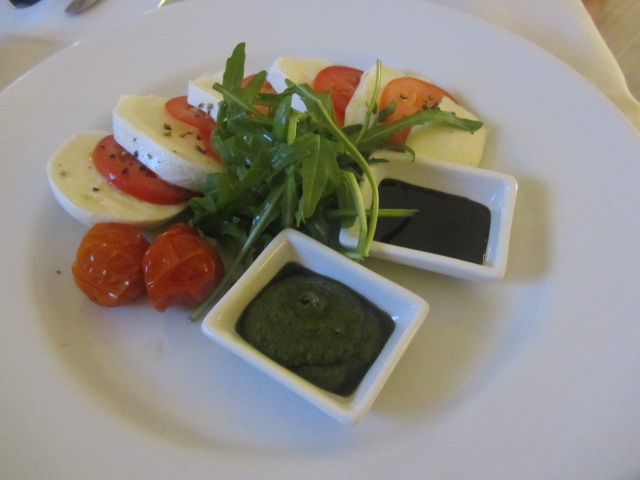 A picture of my Insalata Caprese at the Westin in Sydney.
