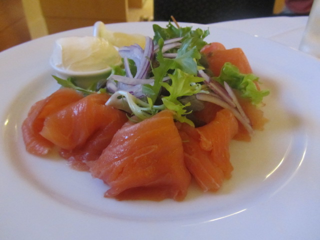 A picture of my smoked salmon at The Westin in Sydney.