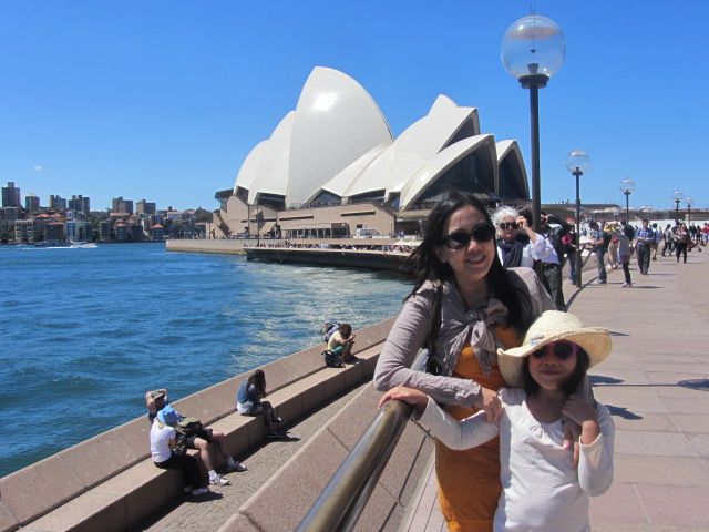 A picture of Amanda and I in front of the Sydney Opera House.