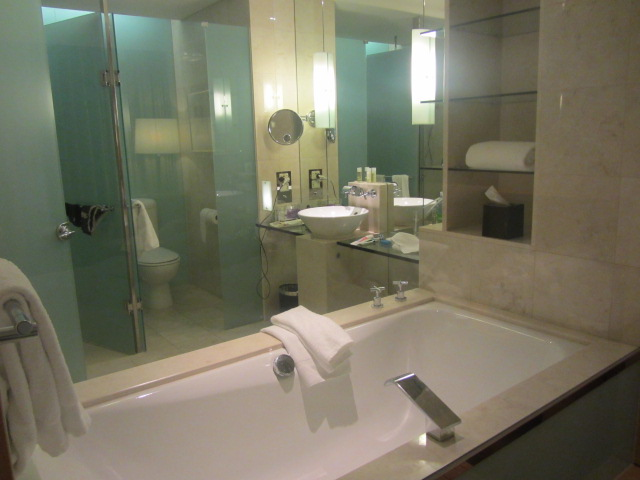 A picture of my bathroom at The Westin in Sydney.