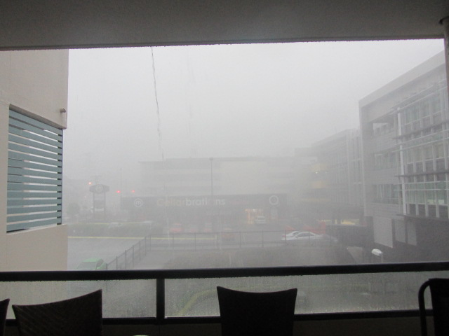 A picture of Saturday's (17/11/12) storm in Brisbane, Queensland.