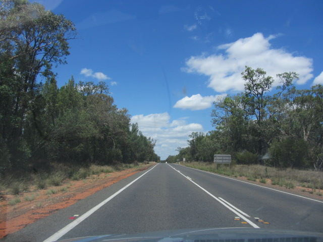 The road from Moree to Dubbo, New South Wales.